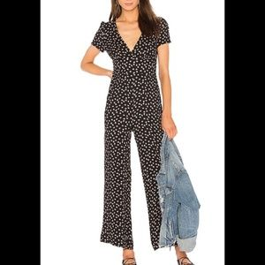 Free People Mia Jumpsuit Floral V-Neck Size 8